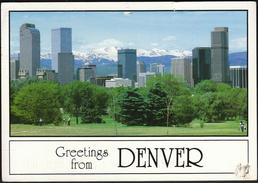 United States San Antonio 1997 / Greetings From Denver, Colorado / Panoramic View From City Park - Denver