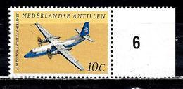 ANTILLES NEERLANDAISES Aer88** 10c Jaune, Noir Et Bleu 30ème Anniversaire De La Cie Aérienne Des Antilles Néerlandaises
