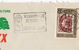 """1978 -Belgique -Obl """"VOORKOM HOGE BLOEDDRUK VERMIJD ZOUT"""" Pour éviter L'hypertension Artérielle évitez Le Sel  Tp N°1885 - Franking Machines"""