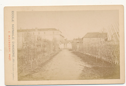 ANGERS, Ecole Normale 1878 - Photo Maunoury Format Cabinet Contrecollée Sur Carton Fort - 2 Scans - Anciennes (Av. 1900)