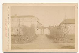 ANGERS, Ecole Normale 1878 - Photo Maunoury Format Cabinet Contrecollée Sur Carton Fort - 2 Scans - Photos