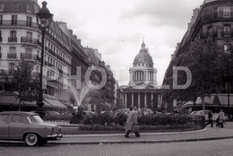 1963 RUE SOUFFLOT PARIS FRANCE 35mm  AMATEUR NEGATIVE NOT PHOTO NEGATIVO NO FOTO VOITURE SIMCA ARONDE - Other