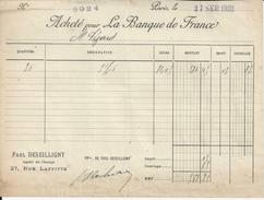 PARIS PAUL DESEILLIGNY AGENT DE CHANGE ACHETE POUR ANNEE 1921 - Non Classés