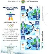 San Marino  Giochi Olimpici Invernali Di Vancouver 2010 Nuovi - San Marino