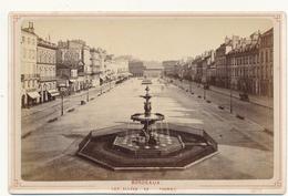 BORDEAUX, Les Allées De Tourny 1879 - Photo Format Cabinet Contrecollée Sur Carton Fort - 2 Scans - Photographs
