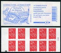 """Carnet De 2006 De 10 Timbres Type """"Lamouche"""" Avec Couvert. Blanche """"La France à Vivre"""" - Avec CARRE NOIR - Carnets"""