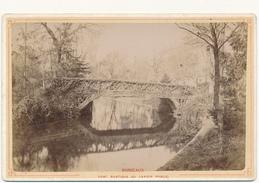 BORDEAUX, Le Pont Rustique 1883 - Photo Format Cabinet Contrecollée Sur Carton Fort - 2 Scans - Photos