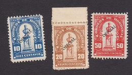 Honduras, Scott #O78-O80, Mint Hinged/No Gum, Regular Issued Overprinted, Issued 1924