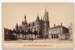 NEVERS, Théatre Et Palais De Justice 1880 - Photo Format Cabinet Contrecollée Sur Carton Fort - 2 Scans - Photographs