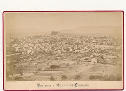 CLERMONT FERRAND 1880 - Photo Format Cabinet Contrecollée Sur Carton Fort - 2 Scans