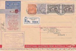 Australia: 1st All-Australian Airmail Service; Collins St, M-London, 19 Nov 1931 - Primeros Vuelos