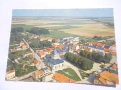 CPSM 51 - MARNE - BAZANCOURT L'EGLISE VUE AÉRIENNE - Autres Communes