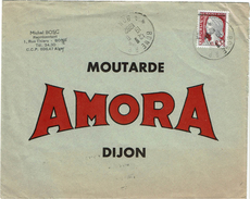 LBR40 - ALGERIE EA DECARIS SEUL SUR LETTRE ADESSEE A MOUTARDE AMORA DIJON AOÛT 1962 - Algeria (1962-...)