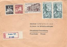 G375 TCHECOSLOVAQUIE / CESKOSLOVENSKO - Lettre Recommandée De Prague Pour Strasbourg En 1961 - Tchéquie