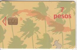 CUBA - Palm Trees, Etecsa/Ascom Test Card 7 Pesos, Used