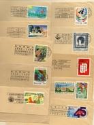 NATIONS UNIES - GENEVE - Lot De 10 Timbres Divers Sur Fragment - Briefe U. Dokumente