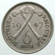 1947 - Southern Rhodesia 6 Pence - KM# 17b - Rhodesia