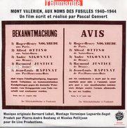 Mont-Valérien, Aux Noms Des Fusillés 1940-1944 - Pascal Convert (musique : Bernard Lubat), 2004 - Documentary