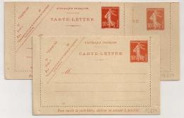 3 CARTES LETTRE SEMEUSE 10C. 3 NUANCES DIFFERENTES. N° 108, 662 Et 849. - Letter Cards