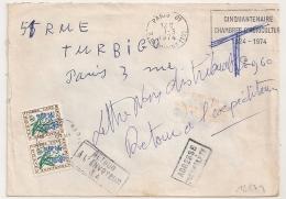 PARIS 01 R. Du LOUVRE TAXE 0.60F. 1974. Lettre Non Distribuable. - Lettres Taxées