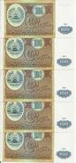 TADJIKISTAN 100 ROUBLES 1994 UNC P 6 ( 5 Billets ) - Tadjikistan