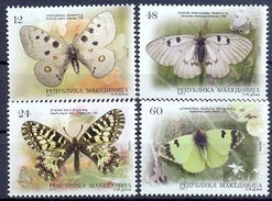 MK 2011-614-17 BUTTERFLY, MACEDONIA, 1 X 4v, MNH - Macédoine