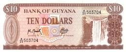 GUYANA 10 DOLLARS ND (1992) P-23f UNC  [GY103i] - Guyana