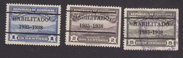 Honduras, Scott #O98-O100, Mint/Used, View Of Tegucigalpa Overprinted, Issued 1936