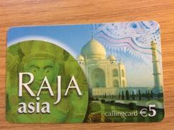 Raja Asia  5 €  Taj Mahal    -  Little Printed  -   Used Condition