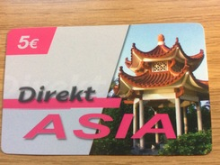 Direkt Asia  5 €  Temple     -  Little Printed  -   Used Condition