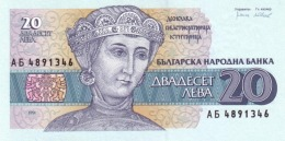 BULGARIA 20 ЛЕВА (LEVA) 1991 P-100a UNC [BG100a] - Bulgaria