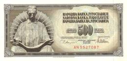 YUGOSLAVIA 500 DINARA 1978 P-91a UNC  [ YU091a ] - Yugoslavia