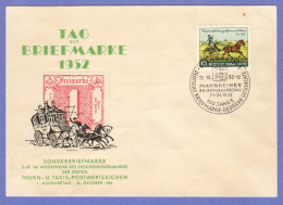 GER SC #692 (Mi 160) 1952 Thurn And Taxis FDC 10-25-1952 - FDC: Covers