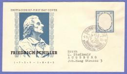 GER SC #727 (Mi 210) 1955 Friedrich Von Schiller, Poet FDC 05-09-1955 - [7] Federal Republic