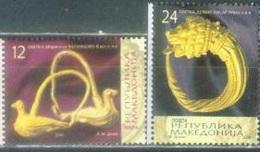 MK 2008-449-50 NATIONAL ARTS, MACEDONIA, 1 X 2v, MNH - Macédoine
