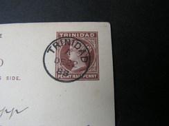 Ganzsache  Trinidad 1888  Mängel - Trinidad & Tobago (1962-...)