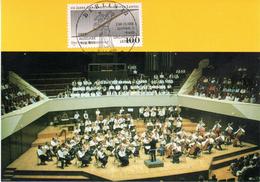 """BRD Maximumkarte """"250 Jahre Gewandhausorchester Leipzig"""" Mi 1654 ESSt 11.2.1993 BERLIN 12 - Cartas Máxima"""