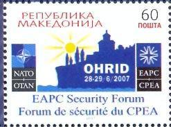 MK 2007-437 EAPC SECURITY FORUM AND NATO, MACEDONIA, 1 X 1v, MNH - Macédoine