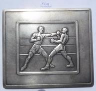 PLAQUE, PLAKETA BOXING, MISTRZOSTWA EUROPY W BOKSIE, EUROPEAN CHAMPIONSHIP IN BOKS WARSZAWA 1953  PLIM - Boxing