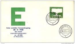 GERMANY 1957 EUROPA CEPT FDC - Europa-CEPT