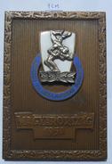 PLAQUE, PLAKETA WRESTLING Birkozo Vilagbajnoksag Budapest MAGYARORSZAG  1958 PLIM - Altri