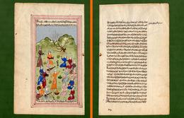 ST-IR Miniatura Persiana Manoscritta 1700-1800~ Enluminure Persane Persian Miniature - Autres Collections