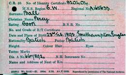 TITANIC - Certificat D'identité Du Steward Ball Percy -  Recto-verso - Karten