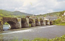 Abergavenny, The Bridge And River Usk (pk34482) - Wales