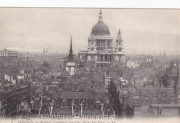 London, St Paul's Cathedral And Ciry Birds Eye View (pk34488) - St. Paul's Cathedral