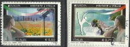 Italia 2012, Europa (o), Serie Completa, Autoadesivi Su Frammento - 1946-.. République