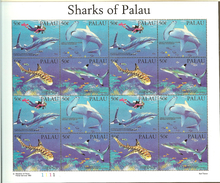 M/S MNH  PALAU, Sharks  /  Feuille Neuve, Requins, Squales - Meereswelt