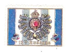 Vignette Militaire Delandre - Angleterre - 13th Hussars - Erinnofilia