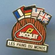 Pin's JACQUET   LES PAINS DU MONDE   DRAPEAUX    P4+ - Food