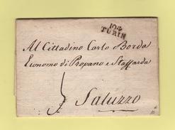104 Turin - Marcofilie (Brieven)